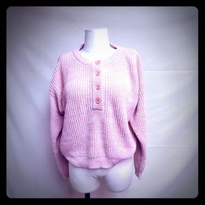 Vintage light pink and white sweater